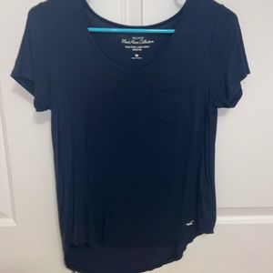 Women's Hollister Navy Blue T-shirt